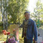 Н.И. Жук на кладбище д. Верхняя Федоровка (Свежая Гарь)